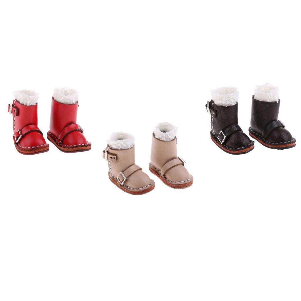 3 paia di stivali invernali Peluche Vestito Per 1  6 Blythe TAKARA Pullip Bambole Sautope  grande vendita