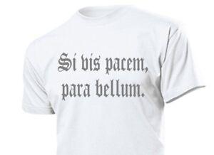 "T-Shirt ""Si vis pacem, para bellum."" ""Wenn du Frieden willst... Gr S-XXL WH WK2"