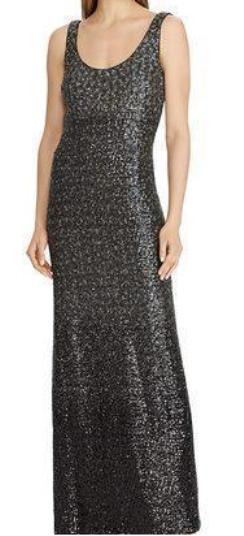 Lauren Ralph Lauren orné de sequins sans manches robe de fabricants Standard prix de détail  300 Größe 8   10 A 140 NEUF