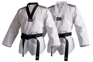 Other Combat Sport Supplies Adidas Wtf Dobok Palo Traje Taekwondo Gi Adulto Niño Blanco Y Negro