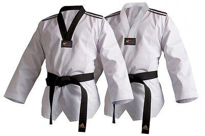 Other Combat Sport Supplies Boxing, Martial Arts & Mma Adidas Wtf Dobok Palo Traje Taekwondo Gi Adulto Niño Blanco Y Negro