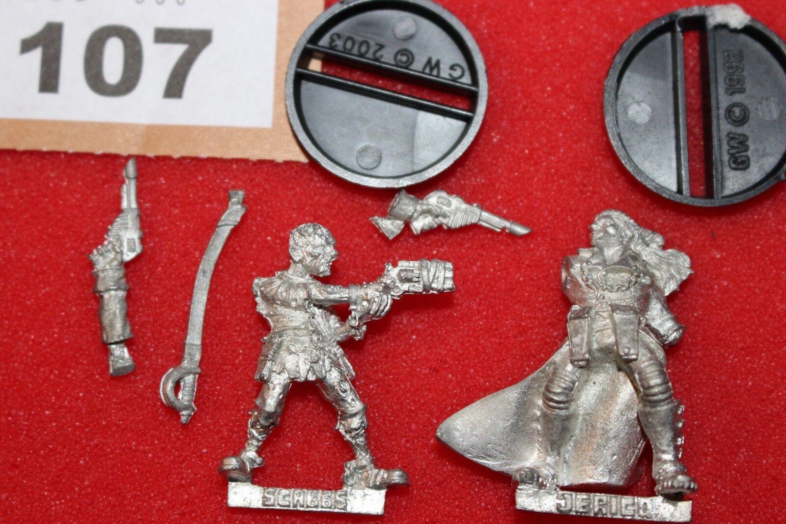 el mas de moda Juegos Workshop Necromunda Kal Jericho y scabbs scabbs scabbs Edición Limitada figuras de metal B  ahorra hasta un 80%