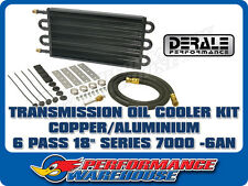 DERALE 18 INCH COPPER/ALUMINIUM TRANSMISSION OIL COOLER KIT -6AN 13303