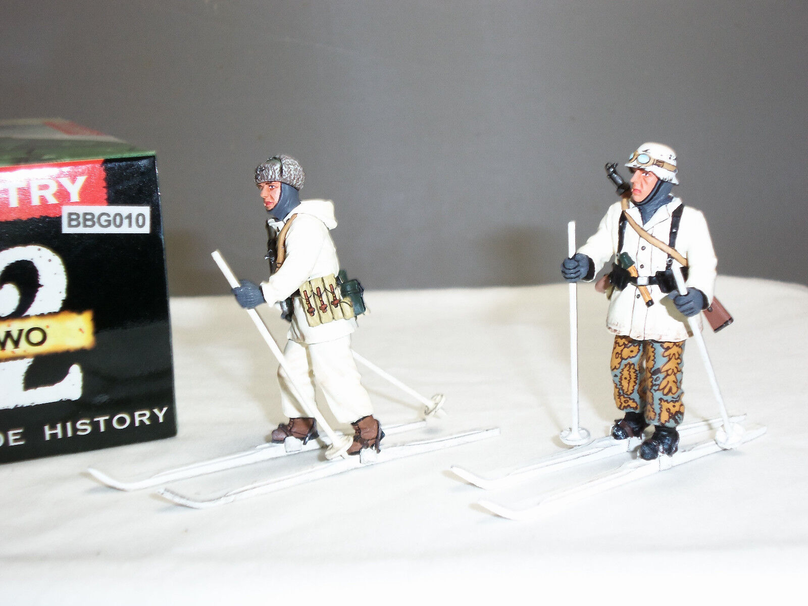 KING AND COUNTRY BBG10 GERMAN ALPINA WINTER SKI TROOPERS METAL TOY SOLDIER SET