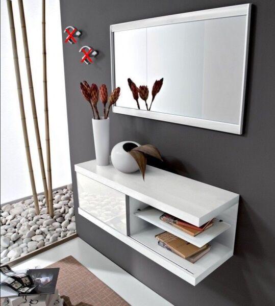 100% Vero Mobile Ingresso Moderno Kelly Consolle Anta Scorrevole+specchio Vari Colori Design Accattivanti;