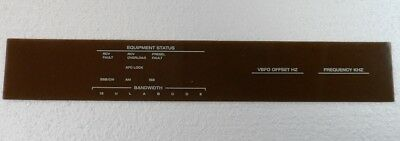 Rockwell Collins 851S-1 Front Panel Plexiglas Panel w// Silk Screen Nomenclature