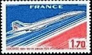 FRANCE-TIMBRE-STAMP-AVION-49-034-MISE-EN-SERVICE-DE-CONCORDE-1F70-034-NEUF-XX-TTB