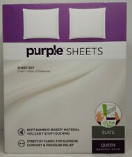 Purple Mattress Brand Bamboo Soft Touch Full Queen Bed Sheet Set Color Purple For Sale Online