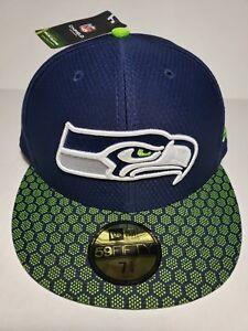 detailed look 61eda eea2f Image is loading New-Era-59Fifty-Hat-Seattle-Seahawks-NFL-On-