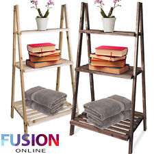 Wooden Ladder Shelf Stand Book Plant Flower Decoration Display Storage 3 Tier