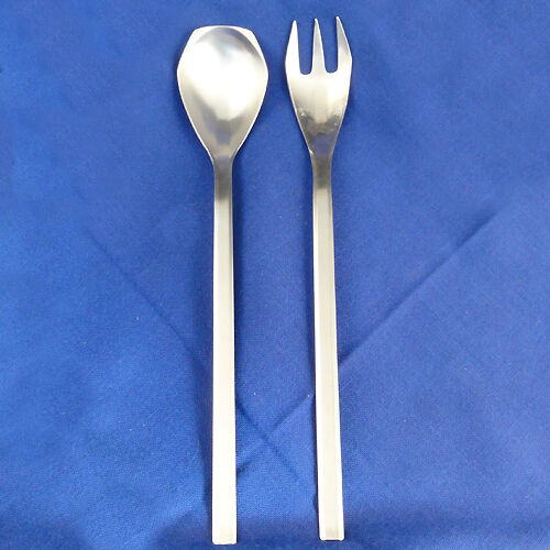 GRACE-AB03 Stainless Amboss Austria SERVING SPOON & FORK 11  tall NEW NEVER USED