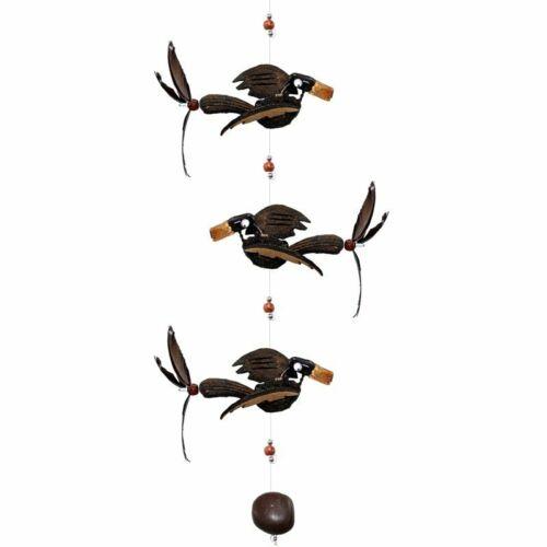 3 schöne lustige Flattervögel 3 beautiful funny flapping birds wind play
