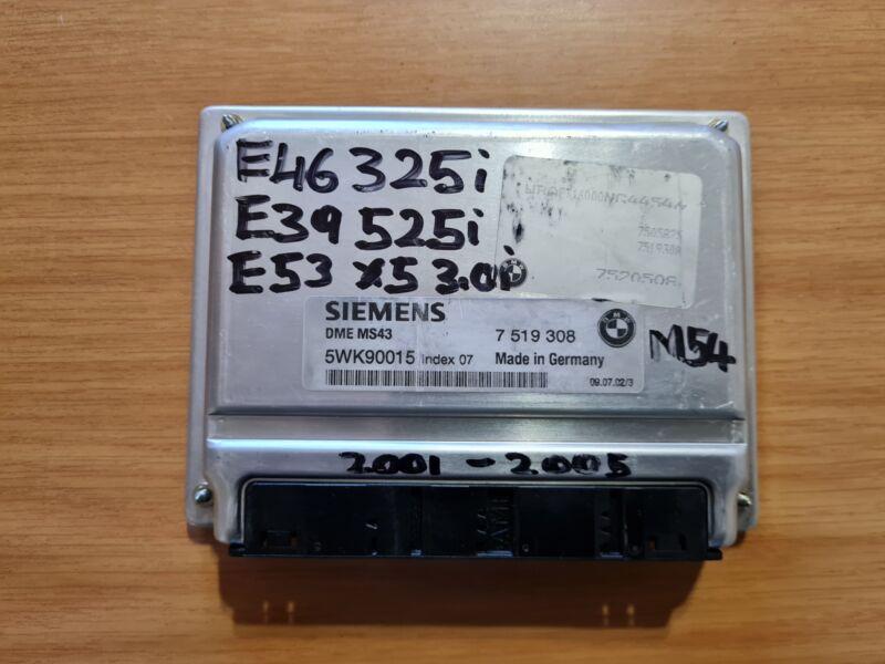 BMW E46 325i M54 2001-2005 Siemens ECU part# DME MS43 7 519 308