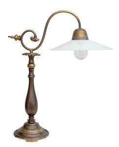Tolle original Jugendstil Art Deco Schreibtischleuchte Messinglampe Tischlampe