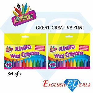Artbox 12 jumbo size wax crayons set of 12 assorted colours