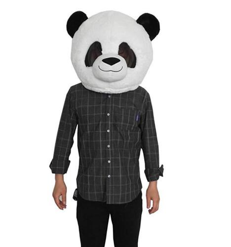 Panda Big Mascot Head Mask Soft Plush Costume Unisex Cosplay Animal