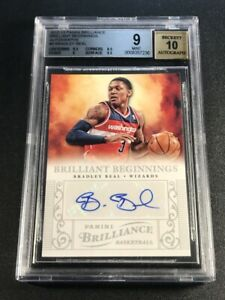 BRADLEY-BEAL-2012-PANINI-BRILLIANCE-9-AUTO-ROOKIE-RC-MINT-BGS-9-10-NBA