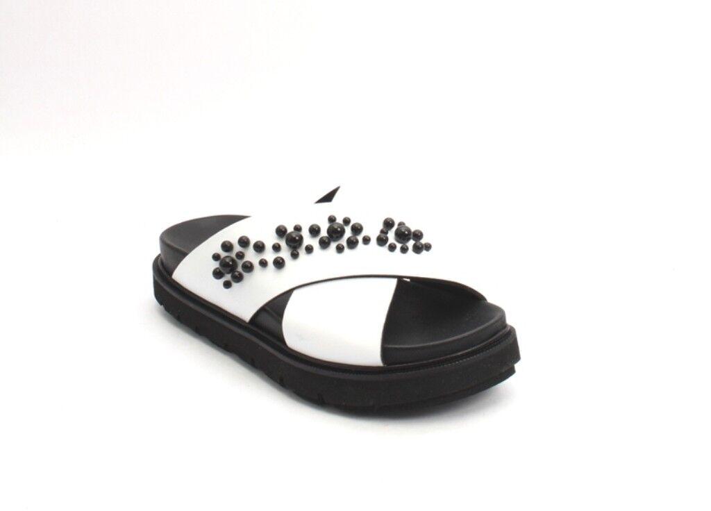 Laura Bellariva Bellariva Bellariva 1506 blancoo Negro Cuero Sandalia diapositivas de plataforma 40 US 10  la calidad primero los consumidores primero