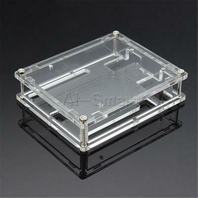 New One Set UNO R3 Shell Acrylic Clear Box Enclosure Transparent Case Shell for Arduino Uno R3 Board Module