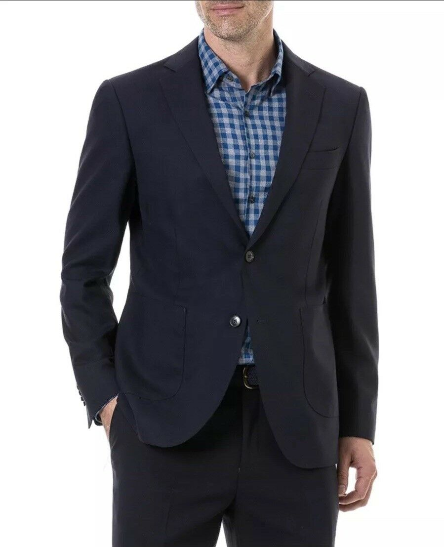 NEW Rodd & Gunn 100% Virgin Wool Signal Hill Regular Fit Blazer- Navy Blau - 42L