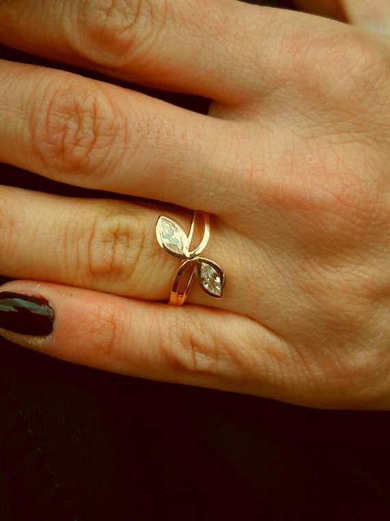 10k solid gold ringmarquise Ringdainty Ringzirconia ringdiamond ringSJR0626