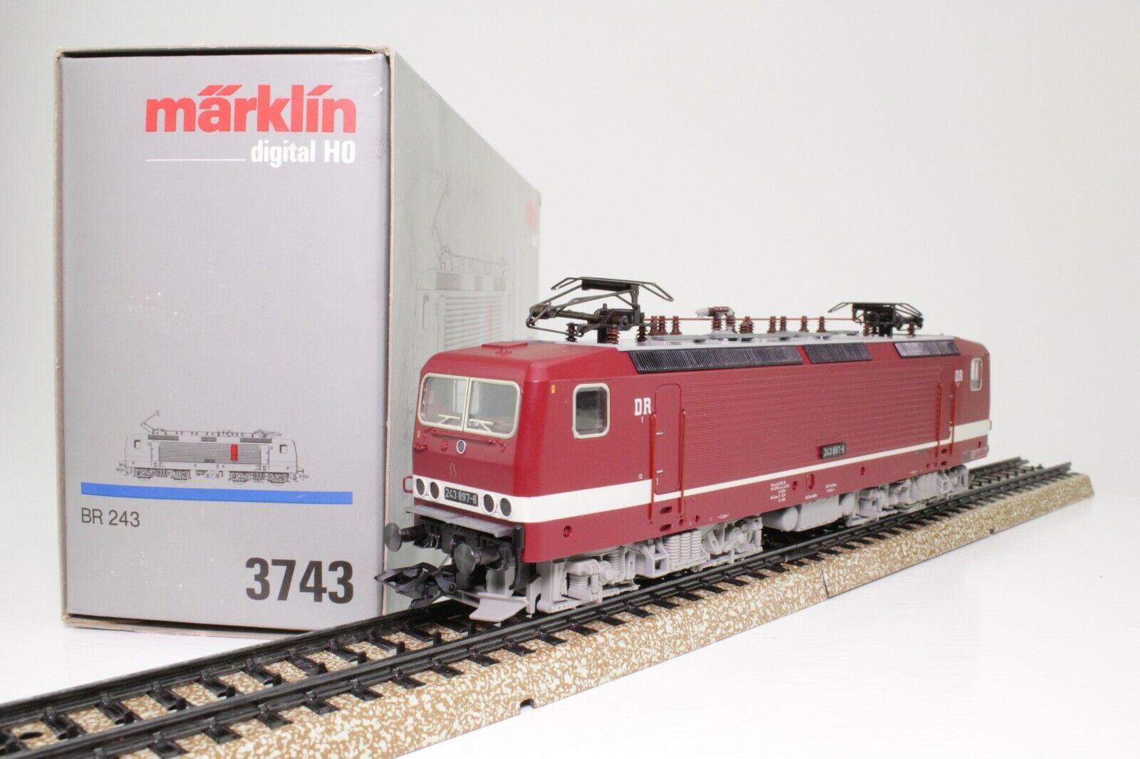 Märklin 3743 h0 E-Lok Elektrolok BR 243 897-6 delle DR AC digitale in scatola originale come nuovo