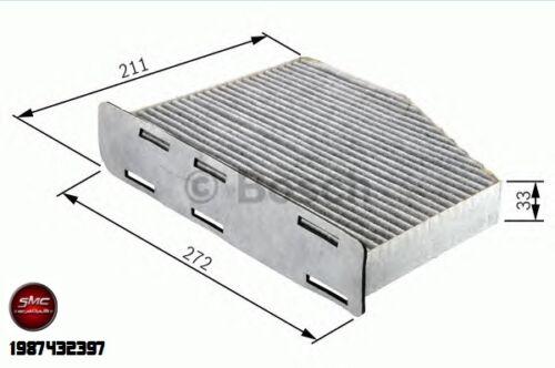 INSPEKTIONSKIT FILTERSET 4 FILTER BOSCH AUDI A3 8P 2.0 TDI BMM BKD CBAB