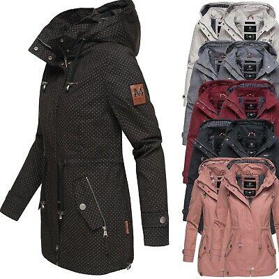 Marikoo Damen /Übergangsjacke Baumwolljacke mit Kapuze Nyokoo 6 Farben XS-XXL