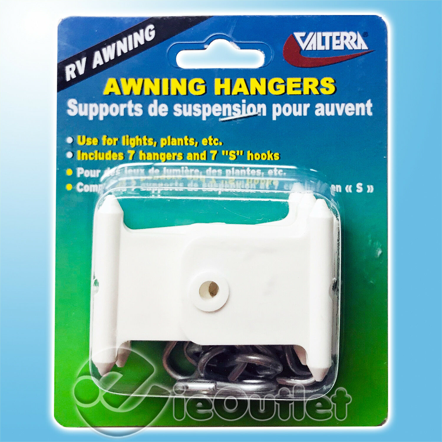 Valterra A77045 White Boxed Awning Accessory Hanger