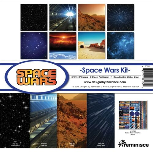 """Reminisce Collection Kit 12/""""x12/""""-space Wars"""