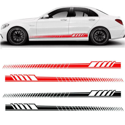 2x Auto Car Graphics Side Body Decoration Sticker Long Stripe Vinyl Decals DIY