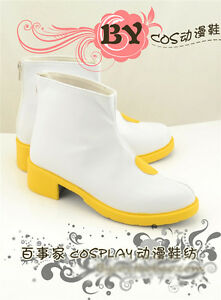 Vocaloid Kagamine Len Kagamine Rin Cosplay Shoes White Yellow Shoes Free shippin