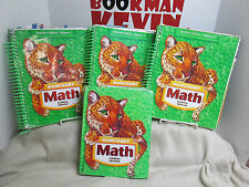 Harcourt Math FL Teacher Vol 1-3 Student Text Bundle lot of 4 Gr 5 G (R6s14-3)k