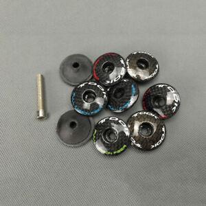 Carbon-Fiber-Stem-Headset-Top-Cap-1-1-8-For-MTB-And-Road-Bike-Bicycle-4-Color