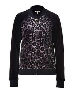 NEW JUICY COUTURE VELOUR BLACK DARK BOWIE LEOPARD TRACKSUIT BOMBER ... c2a2b8f34