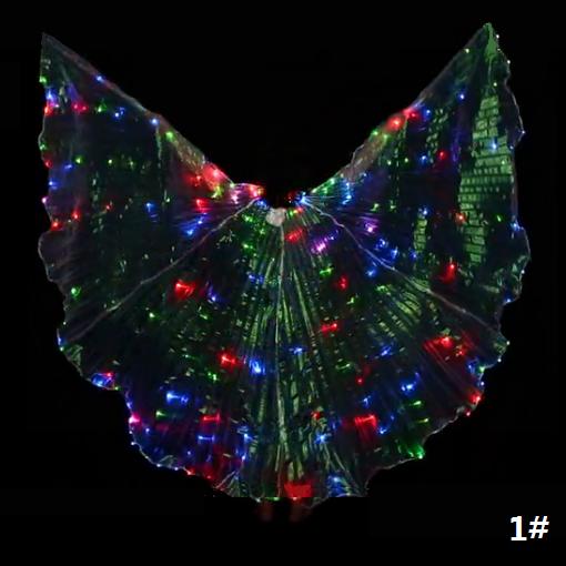 Bauchtanz Kostüm Mehrfarbig LED Isis Flügel (mit 2 2 2 Stöcken) 4 Farben 93e63e