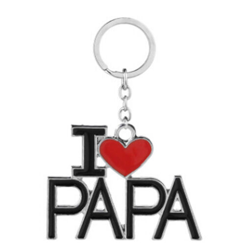 I LOVE PAPA MOM  Key Chain Car Key Ring For Father Mother/'s Day Gift  CB