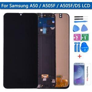 Ecran Complet Vitre Tactile LCD Samsung Galaxy A50 2019 A505 Assemblé Châssis