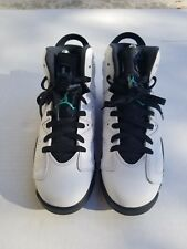 Buy Kids Air Jordan 1 Mid GS HYPER Jade White Black 554725-122 US ... 0fda9e7b3887