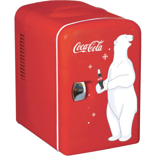 Mini Coca-Cola Can Countertop Fridge, Compact Beverage Personal Coke Soda Gift