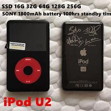 APPLE iPod Classic 7th Gen U2 256GB SSD MP4 1800mAh 100hrs New Battery WARRANTY