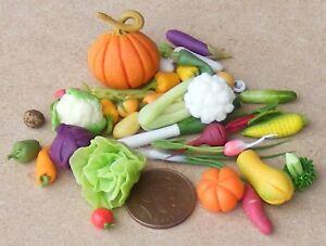 1:12 Échelle Maison de poupées sélection de 28 loose Légumes Cuisine Accessoire  </span>