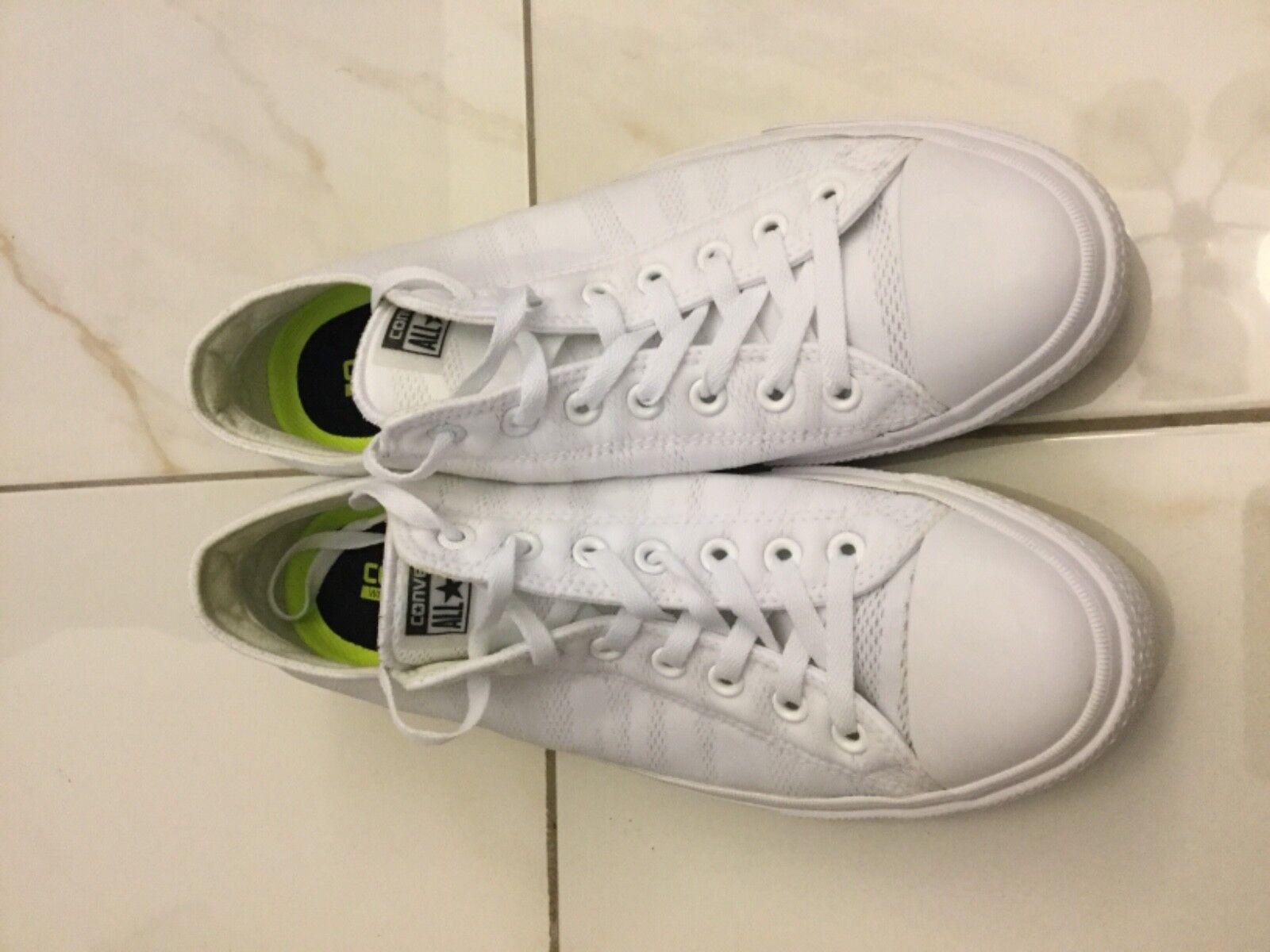 Converse Chuck Low Taylor All Star II Low Chuck patrimonio de Malla Blanco Hombres Zapatos  155495C Como Nuevo 141228