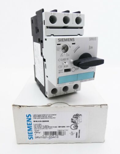 Siemens Sirius 3rv1021-0ga10 3rv1 021-0ga10 E 06 Disjoncteur-UNUSED//Neuf dans sa boîte