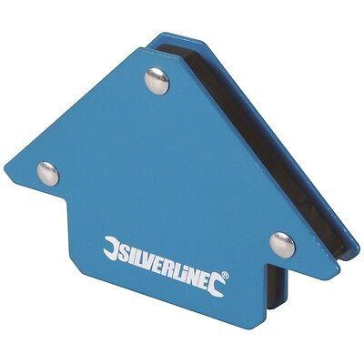 Magnethalter Fixiermagnet Schweißwinkel Magnet 75 mm Silverline Schweißmagnet