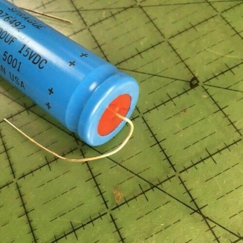 14000uF 15v Sprague Axial Electrolytic Capacitor 39D149G015JS4 Audio Epoxy Seal