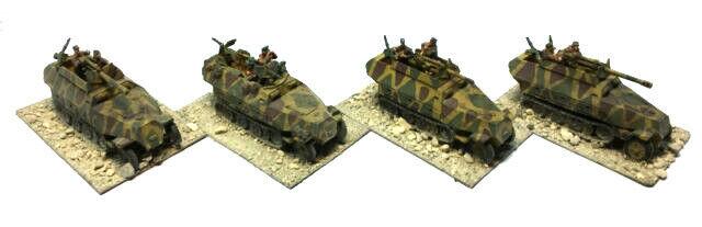 Deutsch Hanomag Sdkfz.251 - DEM ZWEITEN WELTKRIEG - 20mm - malte