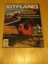 MAG BACK ISSUE KITPLANES JUN 1988 NIEUPORT 11S CAPTAINS DELIGHT SCALE SE-5A