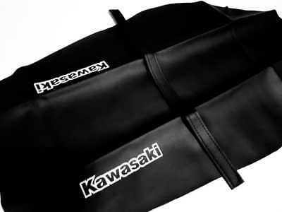 LIGHT GREEN /& BLACK CUSTOM FITS KAWASAKI KLX 650 DUAL LEATHER SEAT COVER