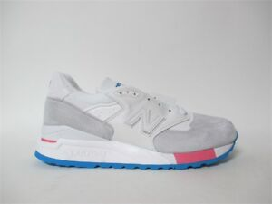 buy online 1caf9 51ef5 Details about New Balance 998 Made in USA South Beach Grey Blue White Sz 12  M998WEA